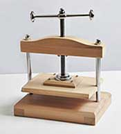 wooden nipping press
